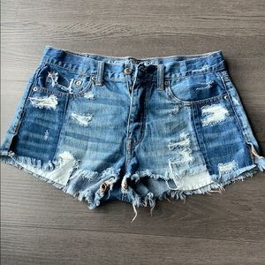American Eagle Two-Tone Denim Shorts